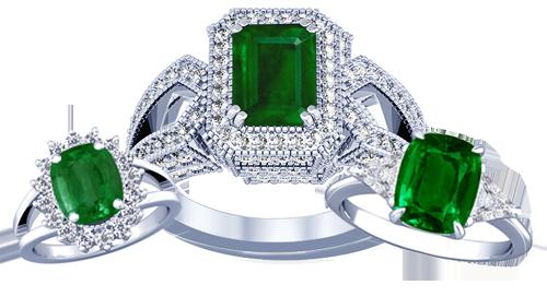 عکسهای شیک | مدل های جدید از جواهرات زنانه با یاقوت سبز (بسیار زیبا)