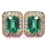 زمرد-طلا و جواهر-طراحی-گوشواره