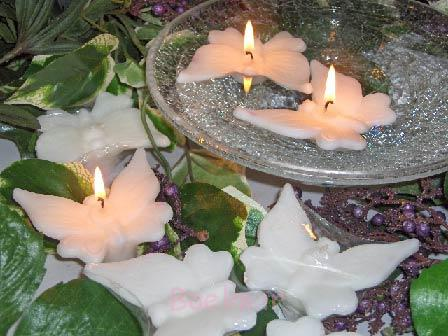 Floating Butterflies candles design