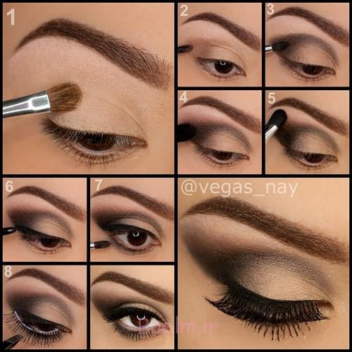 Step by Step Smokey Brown Eyeshadow (1)