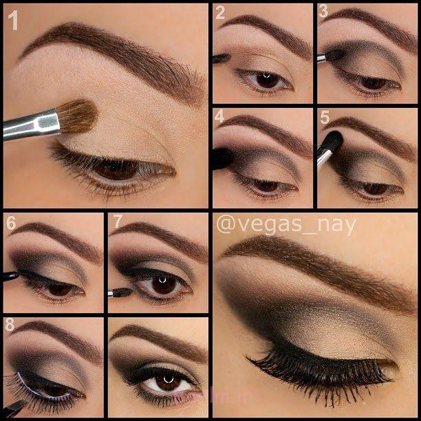 Step by Step Smokey Brown Eyeshadow (12)