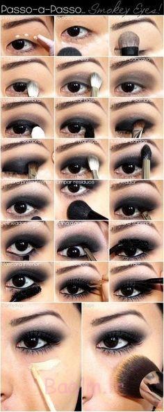 Step by Step Smokey Brown Eyeshadow (13)