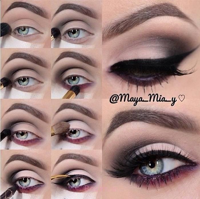 Step by Step Smokey Brown Eyeshadow (16)