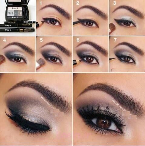Step by Step Smokey Brown Eyeshadow (9)