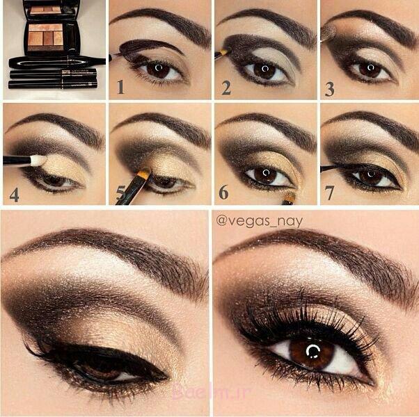 Step by Step Smokey Brown Eyeshadow