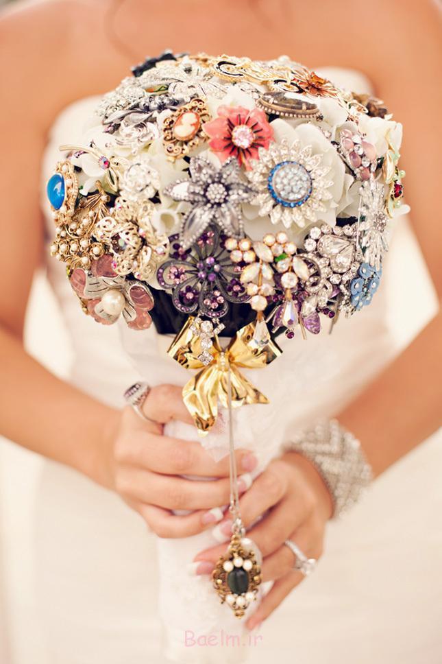 دسته گل سنجاق سینه عروسی شیک (2)