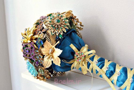 دسته گل سنجاق سینه عروسی شیک (3)
