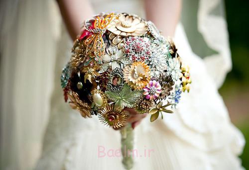 دسته گل سنجاق سینه عروسی شیک (5)