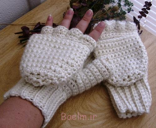 Warm-Woolen-Crochet-Mittens-white-gloves
