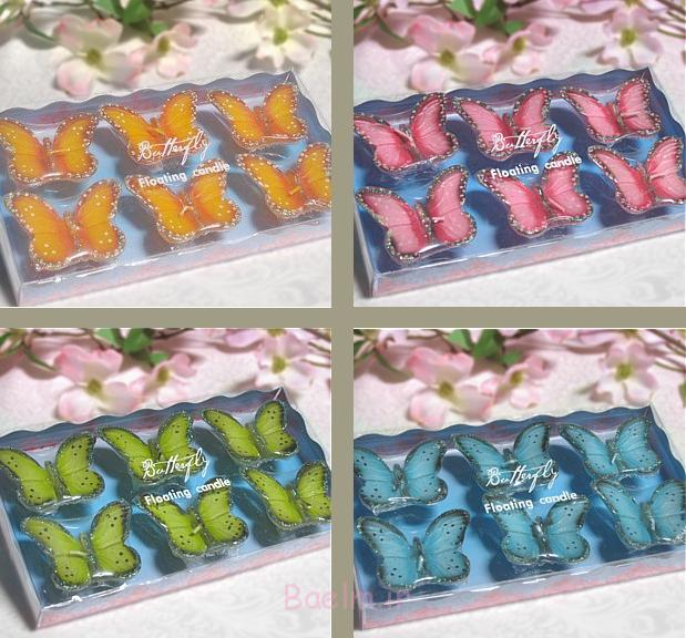 beautiful colors Floating Butterflies candles
