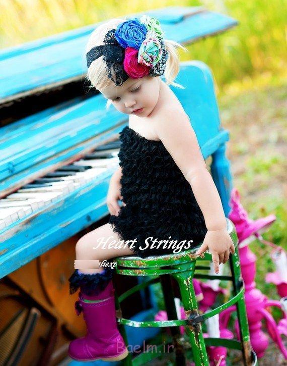 black color Baby girl Petti Romper