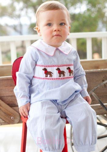 boy smocked romper collection (6)