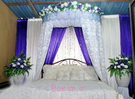 تزیین تخت عروس,تزیین جهیزیه عروس,تخت عروس و داماد
