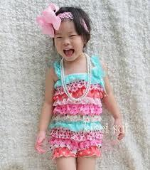 colorful Baby girl Petti Romper