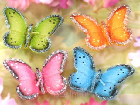 colorful Floating Butterflies candles