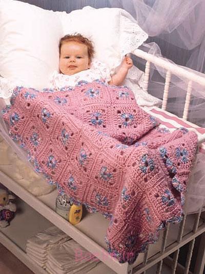 کودک قلاب دوزی الگوهای پتو با تصاویر (1)