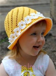 کلاه قلاب دوزی دختران