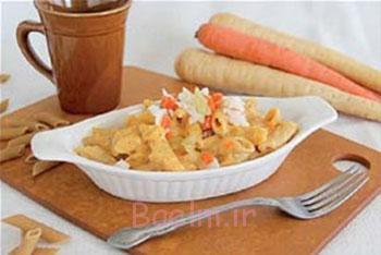 ماکارونی هویج و پنیر,پخت ماکارونی هویج و پنیر