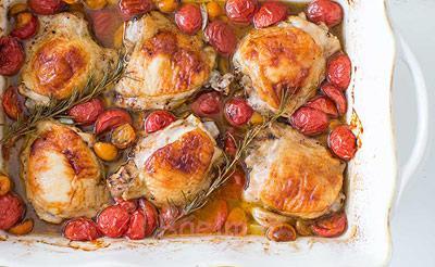 مواد لازم برای ران کبابی با گوجه, پخت ران کبابی با گوجه