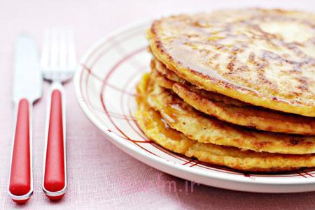 آموزش انواع دسر | مواد لازم و طرز تهیه پنکیک پنیری (دسری ساده و مفید)