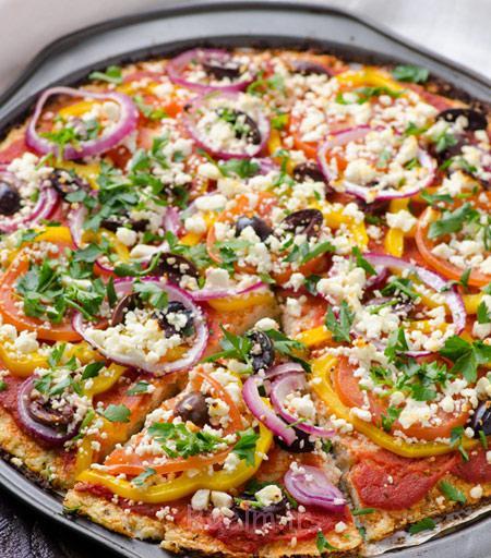 طرز تهیه پیتزا گیاهی,درست کردن پیتزا گیاهی
