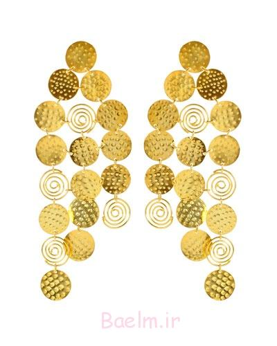 golden color maharaja earrings collection