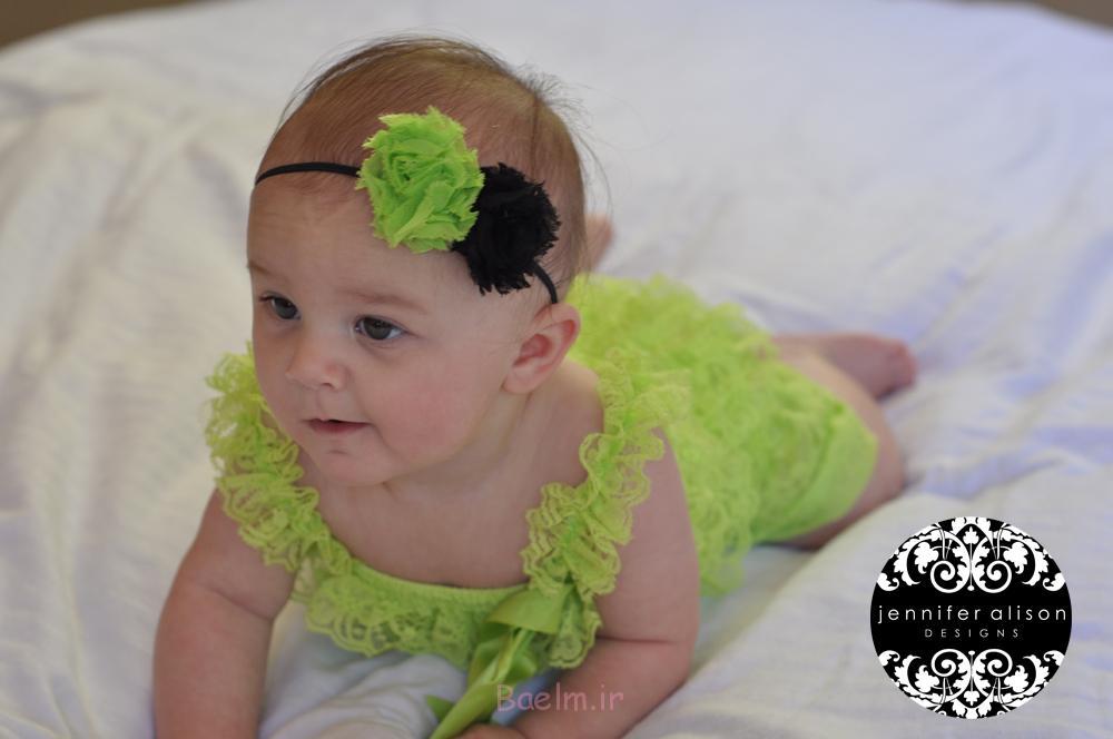 green color Baby girl Petti Romper