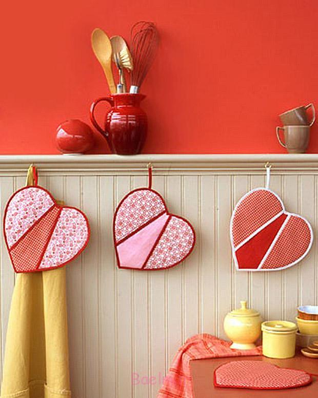 آموزش دوخت دستگیره آشپزخانه به شکل قلب + الگو