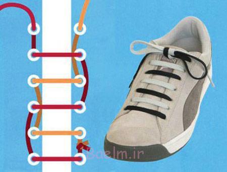 ستن بندکفش،آموزش انواع بندکفش چطور ببندم،جدیدترین روش های بستن بندکفش چطور بندکفش ببندم روش آموزش عکس