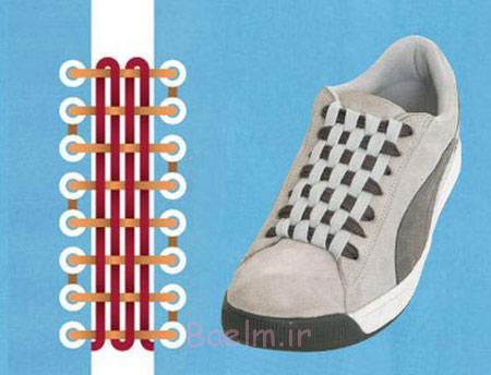 آموزش بستن انواع بند کفش, طرز بستن بند کفش