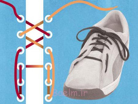 مدل بستن بند کفش,نحوه بستن بند کفش