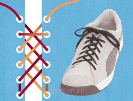 انواع بستن بند کفش,مدل بستن بند کفش