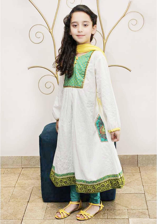 kids white designer dress