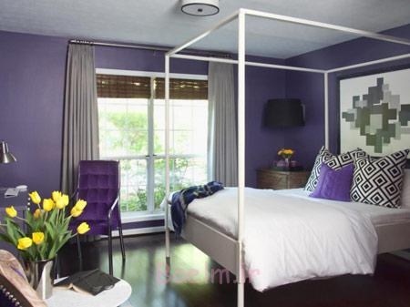 رنگ آمیزی سقف اتاق خواب,تکنیک های تغییر رنگ اتاق خواب