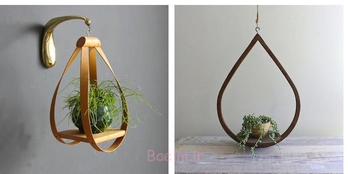 nice wood hanging planters