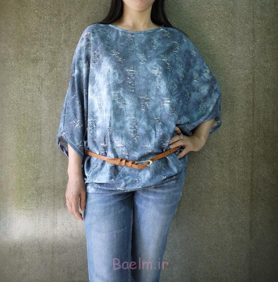 oversized cotton long blouse