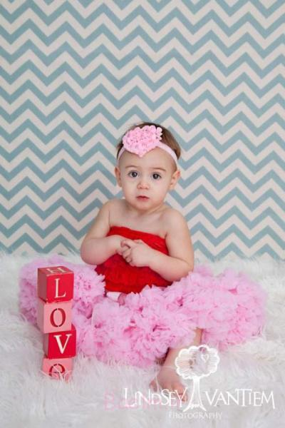 pink and red Baby girl Petti Romper