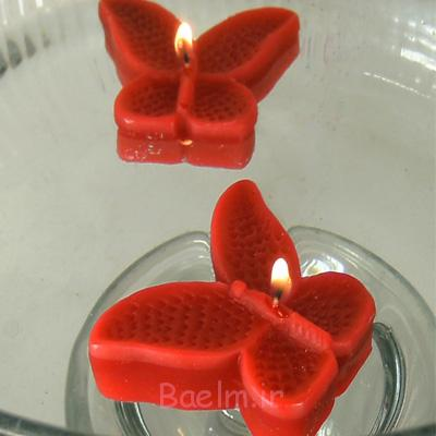 red color Floating Butterflies candles