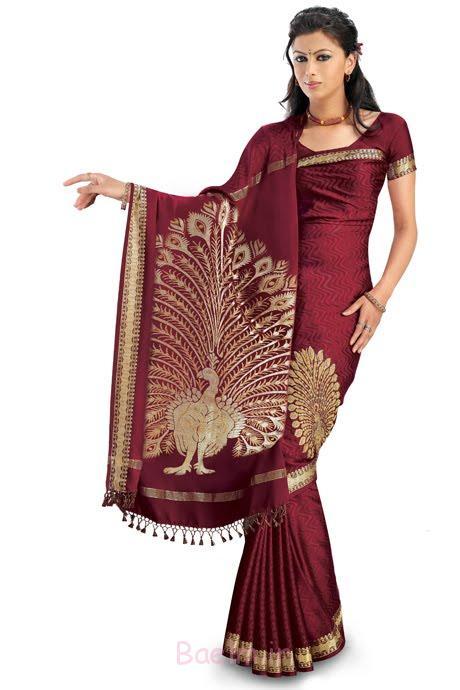 silk new saree for girl
