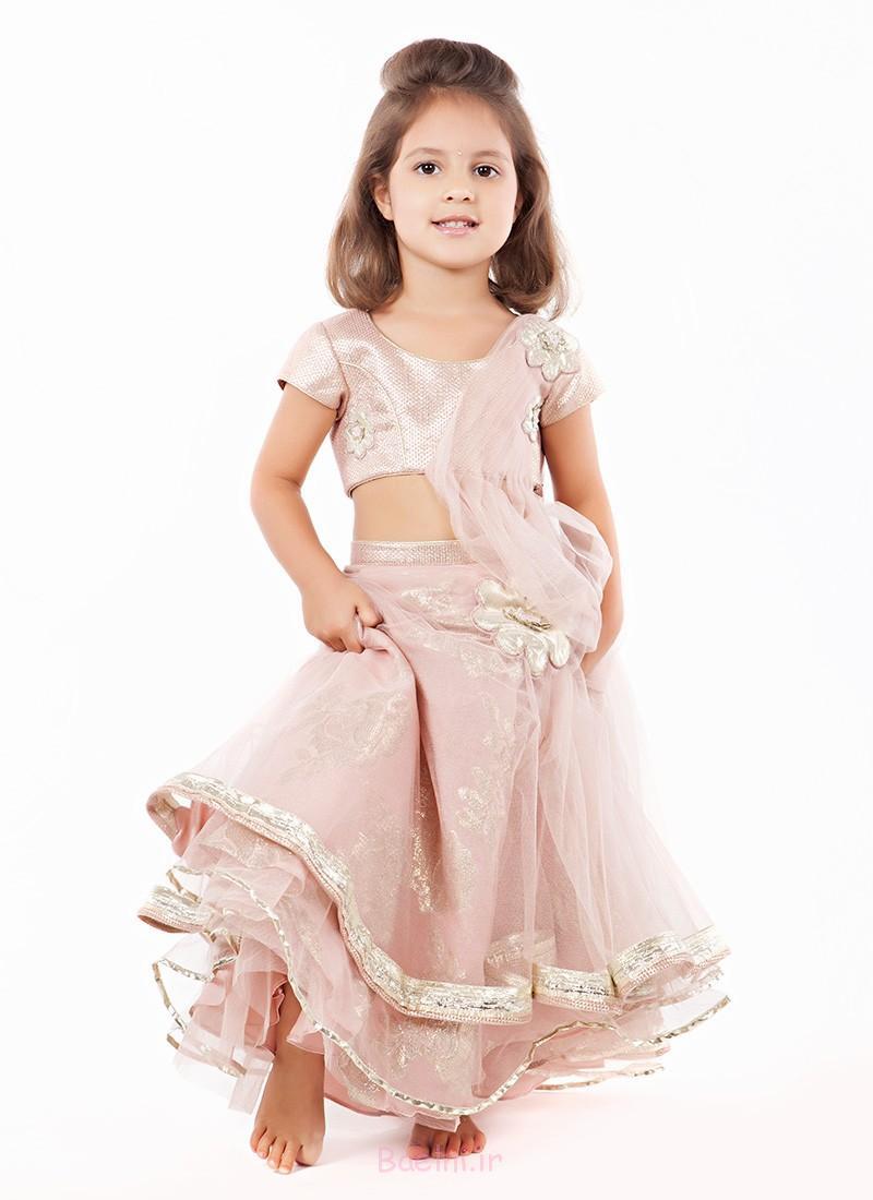soft pink designer dress