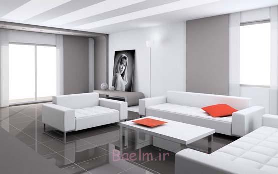 white Simple Sitting Room Decoration