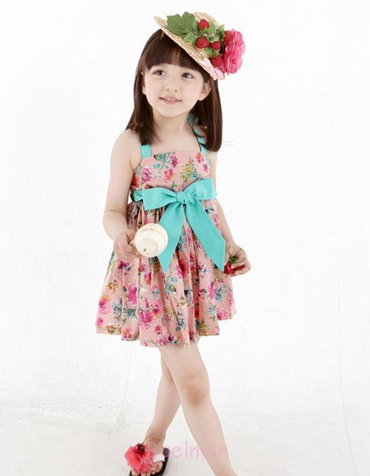 with shoulder strap flower girl dress