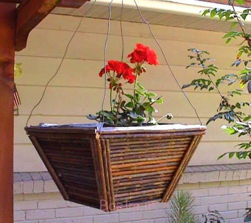 wood hanging planter