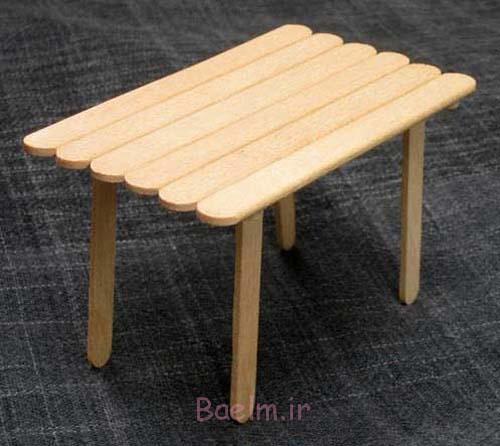 میز با چوب بستنی