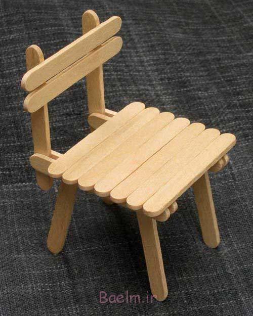 صندلی عروسک با چوب بستنی