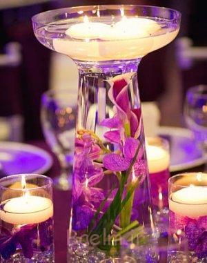 2014 گلدان شیشه ای منحصر به فرد محور عروسی (2)