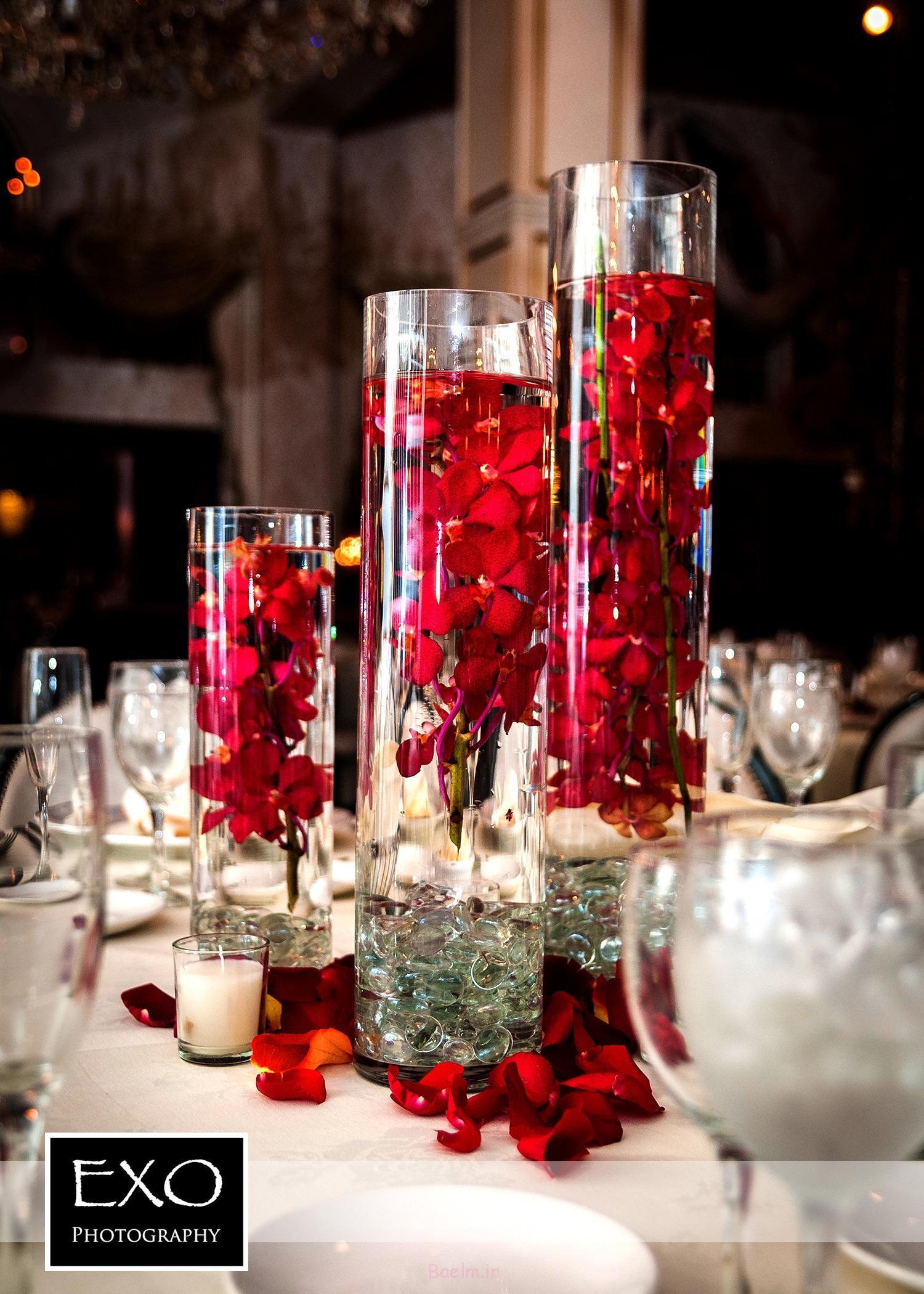 2014 شیشه ای منحصر به فرد گلدان محور عروسی