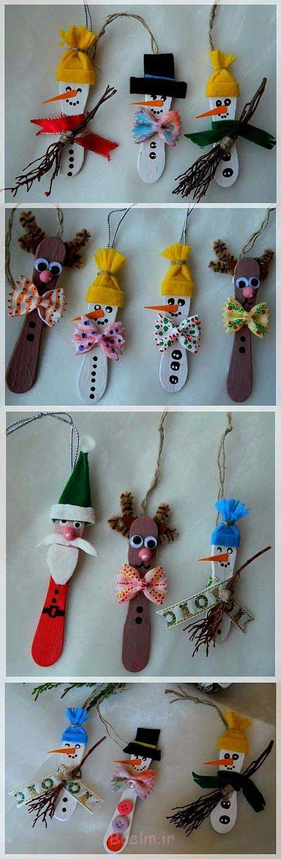 عروسک های چوب بستنی