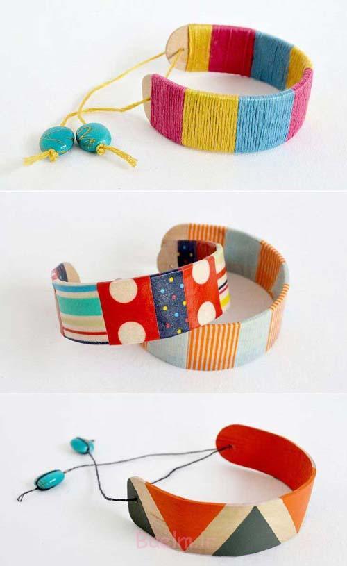 دستبند با چوب بستنی