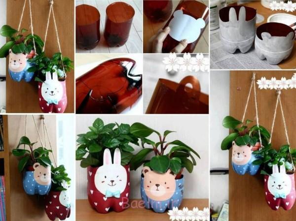 کاردستی ساخت خرس با پلاستیک آموزش تصویری | درست کردن انواع کاردستی زیبا با بطری های آب ...